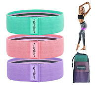 3 pcs Women Resistance Bands Booty Fabric Glutes Hip Exercise Yoga, USA Ship!