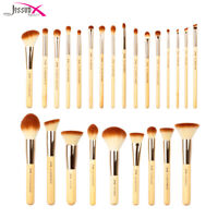 Jessup Makeup Brushes Set Bamboo Foundation Blush Powder Kabuki Cosmetic Tool