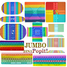 Jumbo Push-Popit Fidget Bubble Rainbow Schachbrett Pops Trend Spielzeug TikTok
