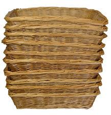 10 x Wicker Basket Trays Bread Fruit Gift Hamper Shop Display - 32cm