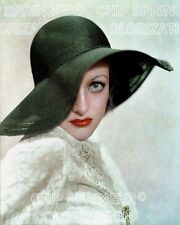 JOAN CRAWFORD WEARING A LARGE BRIM HAT BEAUTIFUL COLOR PHOTO BY CHIP SPRINGER