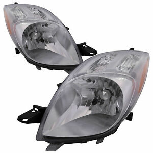 FITS FOR YARIS HATCHBACK 2007 2008 HEADLIGHT RIGHT & LEFT PAIR SET