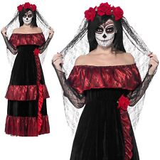 Día de los Muertos Disfraz de Novia Cadáver Esqueleto Disfraz Halloween Mujer