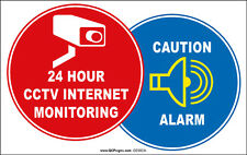 CCTV Security Camera Alarm Internet Monitoring Waring Signs window Sticker Decal