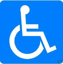 DISABLED PARKING LOGO ONLY PLASTIC SIGN/NOTICE