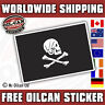 Pirate Flag Sticker / decal skull and cross bones 90mm x 60mm