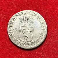 #2661 - RARE Louis XV 1/6 écu 1721 K Bordeaux TTB - FACTURE
