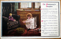 1910 Sigsbeeker/Artist-Signed Postcard: Girl w/Book, Doll- Missionary's Daughter