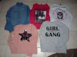 Lot de 2 TS m longues/chemise + 2 sweats - 16 ans - TL16-1