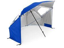 45706 SKLZ Super Brella Sonnenschutz Strandmuschel Sonnenschirm Schirm blau