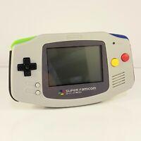 Custom SNES Famicom Edition Shell Nintendo Game Boy Advance GBA Console