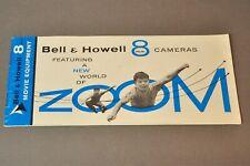 Bell & Howell 8mm cameras brochure, c1956, Original, Not a Copy!