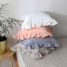 Throw Pillow Cover Cushion Case Ruffle Cotton Soft Sofa Chair Bed Home Decor New
