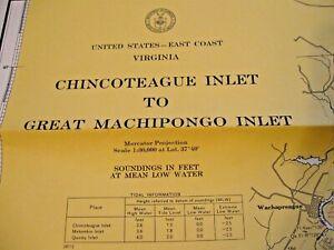 NAVIGATIONAL MAP - CHINCOTEAGUE INLET GREAT MACHIPONGO INLET # 1221 - VIRGINIA