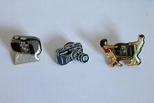 PINS OLYMPUS - ENSEMBLE de 3 PIN'S -COULEUR PHOTOGRAPHIE - NEUF - APPAREIL PHOTO