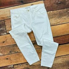 Trina Turk Jeans Size 10 Womens White Straight Slim Leg 141410 Twill