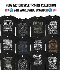 Motorcycle T Shirt Harley Davidson Gasoline Garage Biker Motorbike Indian Motor