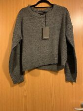 NEW BRAVE SOUL ASOS LADIES WOMANS SIZE LARGE L GREY MARL JUMPER PULL OVER SOFT
