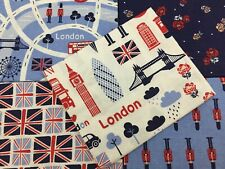 London/Union Jack design 100% Cotton Fat Quarter Bundle 5 Fabrics Craft/Quilting