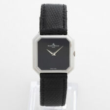 Baume & Mercier Vintage Dress Watch, 18K White Gold / Onyx Black Dial