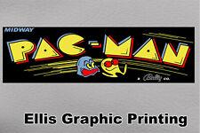 "#4558 (1) 6"" x 1.75"" PacMan Marquee Side Art Arcade Decal Sticker Laminated"