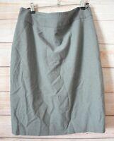 Cue Pencil Skirt Size 12 Grey White Pinstripe