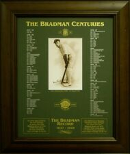 DON BRADMAN 'THE CENTURIES' FRAMED CRICKET PRINT