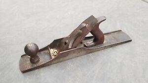 Vintage Stanley Bedrock Wood Plane No 606 Smooth Bottom Cast Iron Antique tool