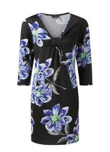 GRACE at EVANS Black/Blue Floral Print Tunic Sizes 22,24 and 26  B78