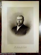 Antique Print 1912 HERBERT M.STAPLES Taunton, MA Massachusetts STEEL ENGRAVING