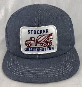 Stocker Cement Patch SnapBack Trucker Denim Hat Cap K Products Gnadenhutten OH