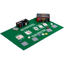 Pokerset 200 Pokerchips Spielmatte Karten Poker Chips Jetons Casino Metallbox