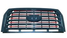 OEM 15-17 F150 Lariat Special Edition Red Accent Grille W/O Camera Factory Ford