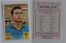 Calciatori Panini Mexico 70 sticker France Fontaine 1958 Bisvalida Mint Unused