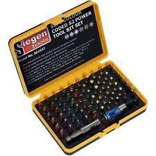 Siegen 62pc Colour Coded S2 Power Tool Bit Set Quick Release