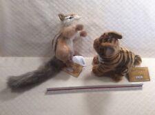 NEW Hansa Chipmunk & Baby Tiger Cub Portraits Of Nature Plush Stuffed Animal