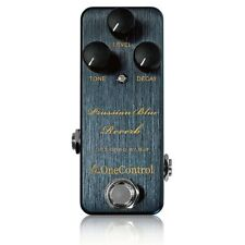 One Control Prussian Blue Reverb BJF Designed True Bypass Guitar Effects Pedal