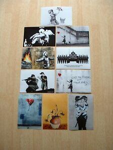 BANKSY ART PRINTS 10 POSTCARD SIZE PHOTO PRINTS REPRODUCTION FROM ORIGINALS,,,,.