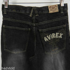AVIREX Relaxed Leg Jeans Boys Size 16 Embroidered Pocket