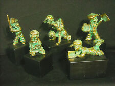 RARE*MINT* RON LEE(CLOWN MAN)  5 PIECE SOLID  BRONZE CHILDREN SERIES FIGURINES*