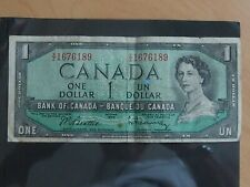 Canadá un dólar nota emitida Ottowa 1954