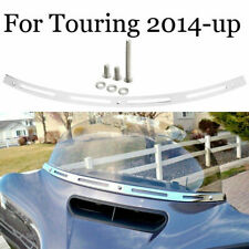 Chrome Slotted Batwing Fairing Windshield Trim For Harley Touring FLHT 2014-2020