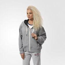180$ Adidas WOMEN ORIGINALS ZIP HOODIE CORE HEATHER AB0549 S SMALL SIZE