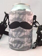 Koozie Holder Necklace Beer Can Bottle Cooler New Drink Strap Mustache