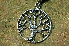 Anhänger Baum Silber plus Lederband  Amulett Kelten Yggdrasil Lebensbaum 925er