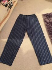Marks And Spencer's Size 33/35 Inch Waist  Men's Blue Striped Lounging Pants