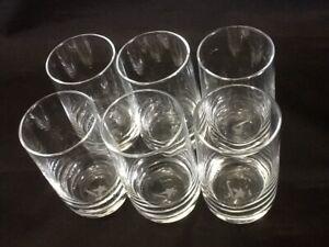 Six Shot Glasses 4 oz Glass Barware Shots Whiskey Tequila Vodka Rum 1/2 Dozen