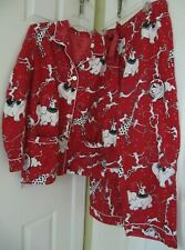 Nick Nora Red Flannel 2 Pc Pajama Set XL CIRCUS Elephants Monkeys Giraffes Lions