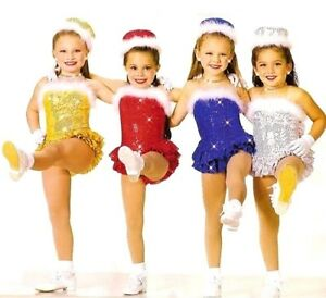 Come Dance With Us Dance Costume Art Stone with Hat and Gloves Gold Child Small