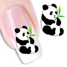 Nail Art de transferencia de agua Pegatina Osos Panda Pegatinas Calcomanías (DX1237)